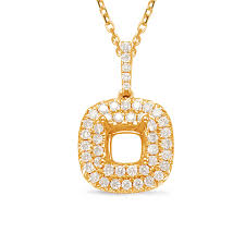 diamond pendant 1 50ct cushion cen
