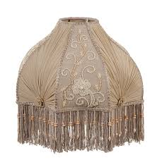 victorian table lamp shade with fringe