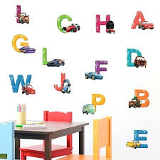 disney cars wall decals cars alphabet wall decals the treasure thrift personalized disney cars wall decals