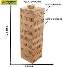 Wooden Brick Game Buy PIGLOO 100 Pcs Blocks 100 Dices Wooden Tumbling Stacking Jenga 99