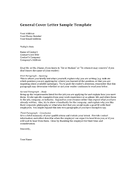 Example Cover Letter For Resume General General Cover Letter Sample Template Attractive Resume