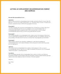 Personal Letter Of Recommendation Format Free Reference Letter Simple Format Samples Personal