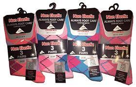 <b>Ladies</b> Diabetic,<b>Non</b> Elastic <b>Ankle</b> Socks, <b>Womens</b> Anti Bacterial ...