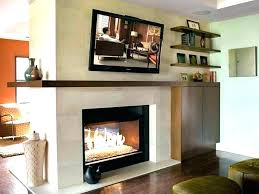 see through wood burning fireplace indoor