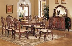 F2168 Queen Anne Style Dining Room in Light Golden Cherry by Poundex