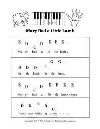 Clarinet Finger Chart Mary Had A Little Lamb Mary Had Little Lamb Recorder Notes And Fingerings