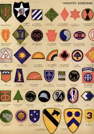 Us Army Patch Chart See Dozens Of Vintage Us Army Navy Shoulder Insignia Plus
