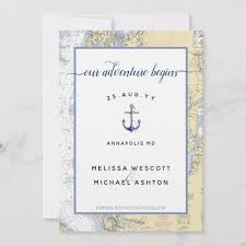 Nautical Chart Holder Dusty Blue Maryland Nautical Chart Anchor Wedding Save The Date