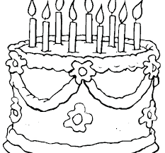 Birthday Cake Coloring Pages Gewerkeinfo