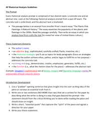 Example Of Rhetorical Analysis Essays Essay Writing Rhetorical Strategies