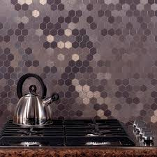 12 X 12 Decorative Tiles Aspect Honeycomb Matted 100 in x 100 in Brushed Stainless Metal 27