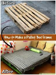 diy pallet bed frame tutorial diy pallet furniture projects