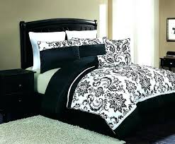 black and white bedding sets queen plain comforter set
