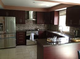 kitchens with dark brown cabinets. Dark Brown Hardwood Pantry For Private L Shaped Kitchen In Tile Marble. Design House. Kitchens With Cabinets C