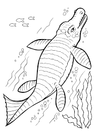 Dinosaur Undersea Coloring Pages For Kids
