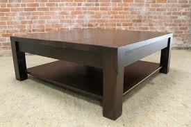 square parsons coffee table in espresso ecustomfinishes intended for espresso coffee tables