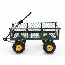 ikayaa multi use trailer remorque heavy duty steel utility garden cart 300kg capacity beach outdoor lawn