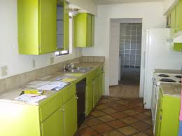 colors green kitchen ideas. Fine Kitchen Small Lime Green Kitchen Idea With Repainted Cabinets And Tile Flooring In Colors Ideas