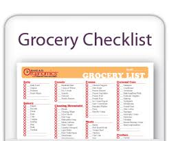 grocery checklist printable grocery checklist put an end to missed items at the store