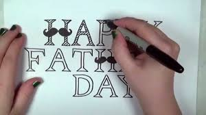 Happy Fathers Day Card Drawing Lesson Cc Youtube
