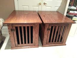 pet crate furniture. End Table Pet Crate Dog Furniture Merry Products With Cage Cover V