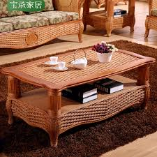 Southeast Asia Indonesia rattan coffee table coffee table hotel clubs long  rattan furniture in Indonesia rattan