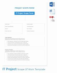 Sample Statement Of Work Template Scope Of Work Template Doc Lovely Sample Statement Of Work Template