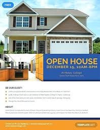 House For Rent Flyer Template Word Blue Minimalist Open House Flyer Christmas Open House Flyer