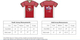 Wilson Football Jersey Size Chart