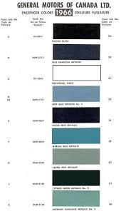1965 Pontiac Color Chart 1966 Chevelle Paint Codes
