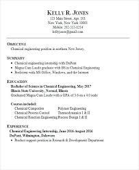 Chemical Engineer Resume Examples Sarahepps Com