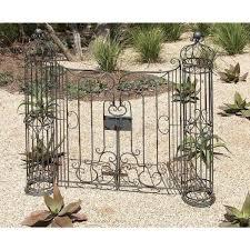 wrought iron garden gate decor with swinging