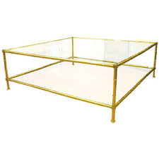 Coffee Table:Brass Glass Coffee Tables Square Brass Faux Bamboo Living Room  Table Family Room Awesome Design