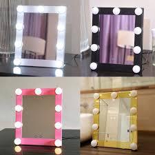 led bulb vanity lighted hollywood makeup mirror with dimmer se beauty mirror vanity mirror with lights for gift makeup bag pocket mirror art deco mirrors