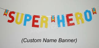 super hero style custom name banner