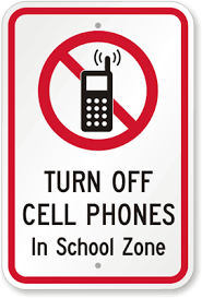 No Cell Phones Sign Printable No Cell Phone Signs For Schools