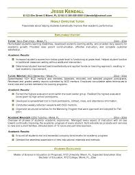 Tutor Resume Examples - Kleo.beachfix.co