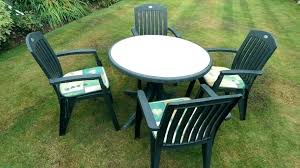 plastic outdoor table plastic garden table round plastic tables and chairs full size of home green