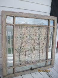 plain decoration window frame wall art decor rustic shabby old chic