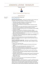 Junior Engineer/Site Supervisor Resume samples