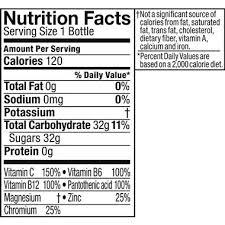 Vitamin Water Nutrition Chart Glaceau Vitaminwater Power C Dragonfruit Hy Vee Aisles