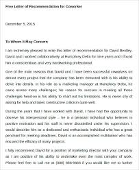 Letter Of Recommendation Coworker Teacher 45 Free Recommendation Letter Templates Free Premium