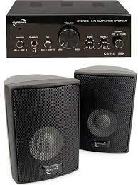 Amplificateur Stéréo 50W Dynavox CS-PA1 avec paire d'enceintes