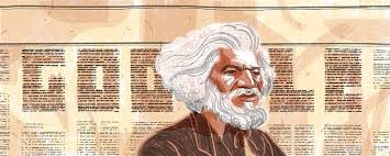 celebrating frederick douglass a near final draft of richie pope s illustration and design for frederick douglass