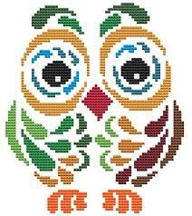 Art Deco Cross Stitch Charts Art Deco Owl 2