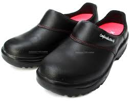 details about women chef black shoes leather non slip safety for cook poly sheet toe cap