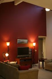 For Living Room Wall Figuring Out If A Burgundy Accent Wall On Cathedral Ceiling Works