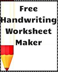 Handwriting Worksheets Maker Free Handwriting Worksheet Maker Kindergartenklub Com
