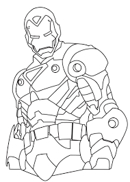 Iron Man Hero Coloring Pages For