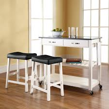 Kitchen Island Cart With Granite Top Portable Kitchen Island With Seating Solid Black Granite Top Cart